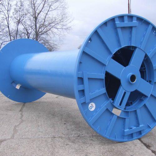 Blue customized large metal spool