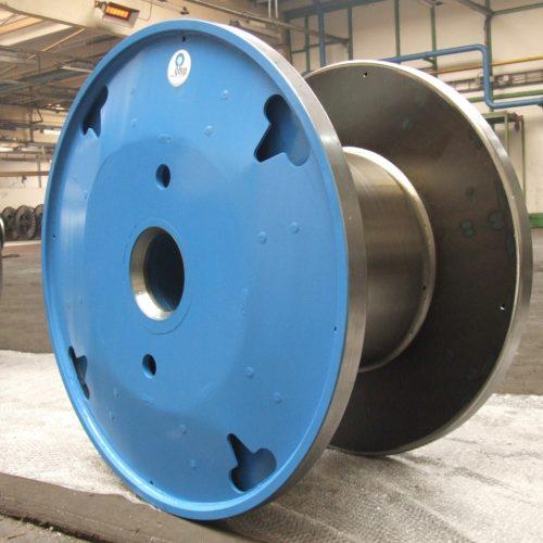 Blue steel cable reels, 820 mm flange