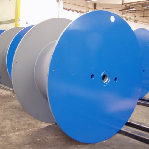 Blue steel reels for wire drawing, special sandblasting