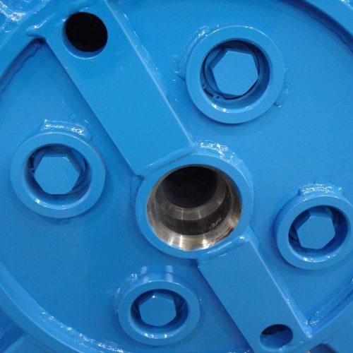 Collapsible reel screws detail