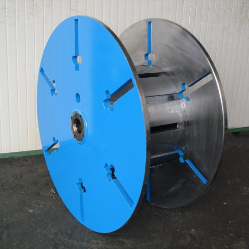 Collapsible spool massive flange