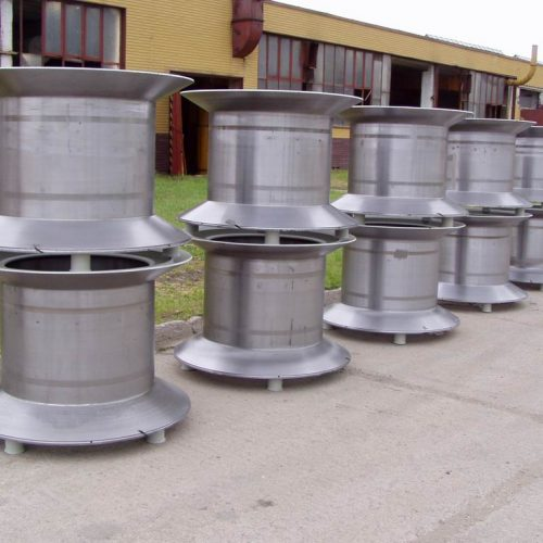 Conical steel reels stock
