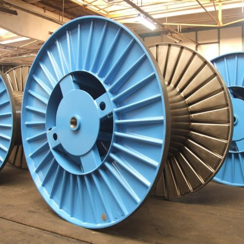 Corrugated drums with 1000 mm flange
