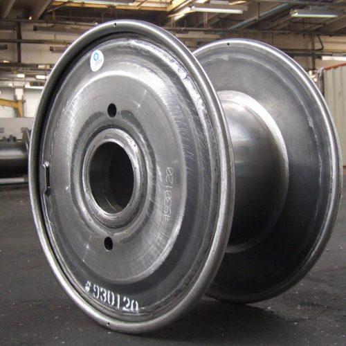 Customized unpainted steel reel, 560 mm