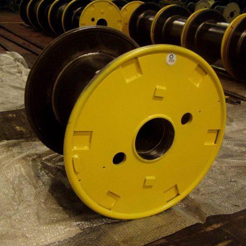 Double flat flange steel reel