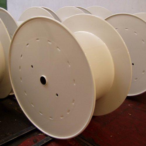 Flat flange steel reel fully painted