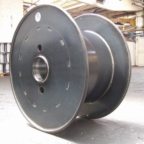 Flat flange steel reel unpainted