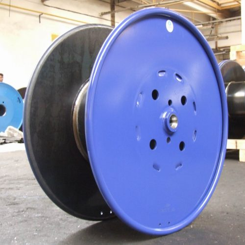 Flat Flange steel reel with machined hubs