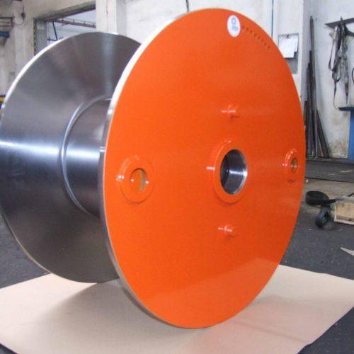 Fully machined steel reel 950 mm flange