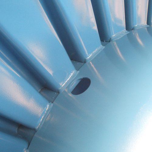 Large metal cable reel, detail