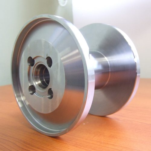 Large metal spool