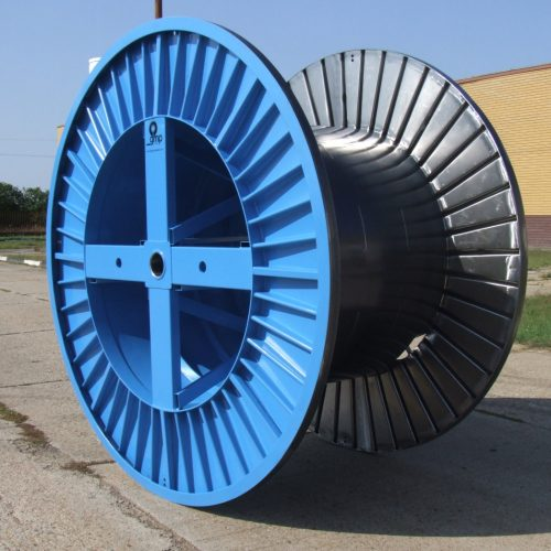 Large steel cable spools 2500 mm flange