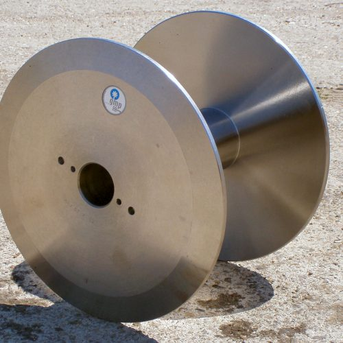 Large steel cable spools