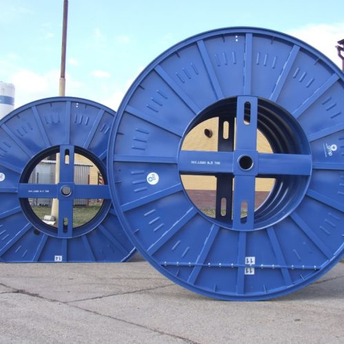 Metal cable drums, disassembled flange