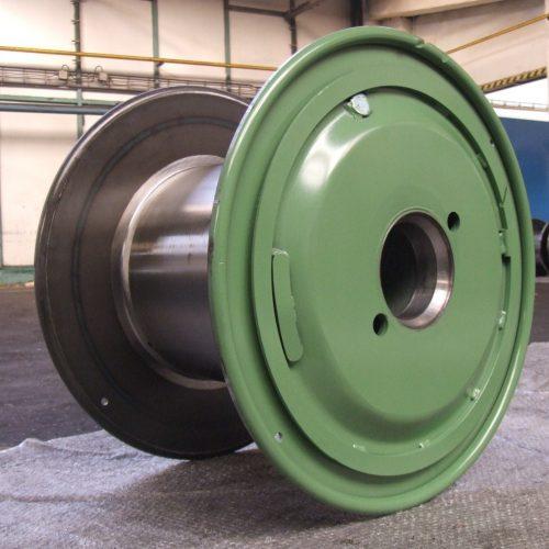 Metal reels, green color