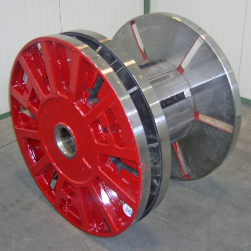 Red collapsible cable reel