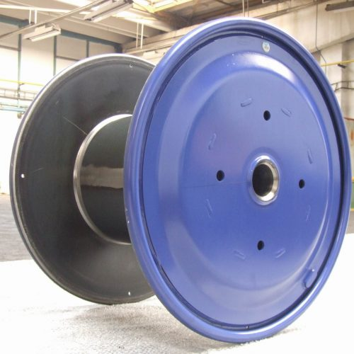 Steel cable reels with driving holes, 1250 mm flange