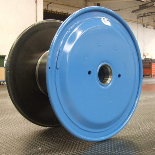 Steel cable spool, 1250 mm flange
