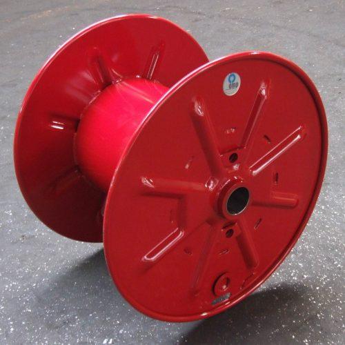 Steel reel 800 mm flange, red color