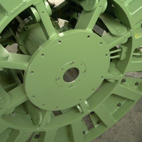 Take-apart reel, hydraulic detail