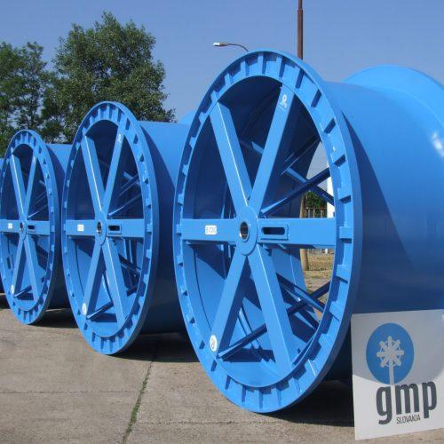 Blue large cable drums