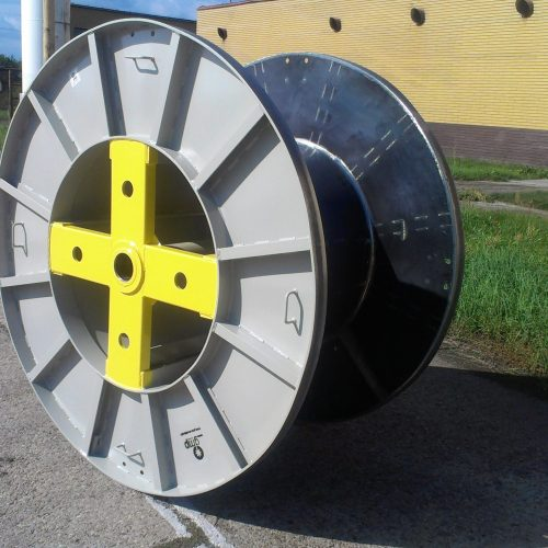 Large cable drums for sale, grey color