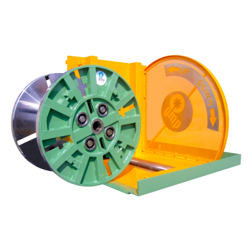 Automatic reel & coil tilter