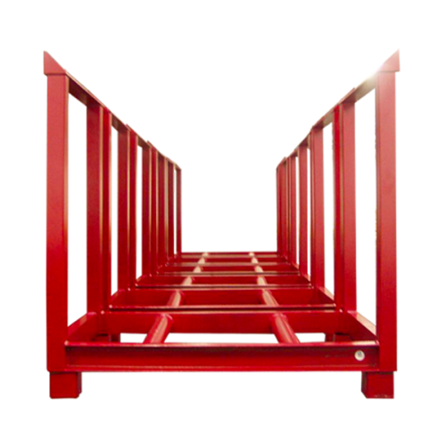Red pallet for steel reels
